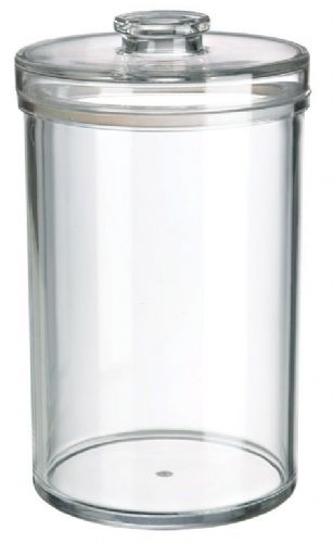 93 OZ Round Jar, Sealed Lid, MS, Foodsafe